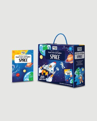 Sassi - Blue Educational & Science Toys - Travel, Learn and Explore Puzzle & Book Set - Space - Size One Size at The Iconic