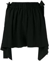 Fendi scalloped handkerchief hem shorts - women - Silk/Viscose - 42