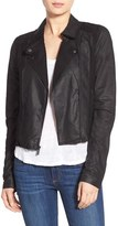 Paige Women's 'Silvie' Suede & Leather Moto Jacket