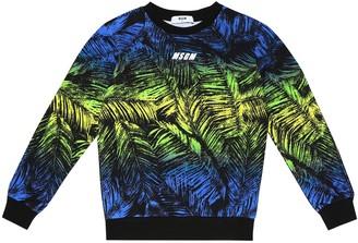 MSGM Kids Printed cotton sweatshirt