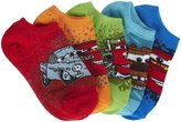 Disney 5 Pack No Show Socks (Toddler/Kid)-Cars-5-6.5