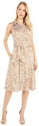 Nic+Zoe Petite Copper Kiss Shirtdress (Copper Multi) Women's Clothing