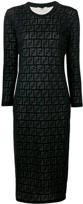 Fendi inlaid FF motif dress