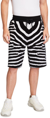 Burberry Men's Janson Zebra Knit Shorts