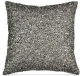 "Donna Karan Home Exhale 12"" Square Beaded Decorative Pillow"