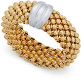 Macy's Two-Tone Mesh Ring in Sterling Silver & 14k Gold-Plated Sterling Silver