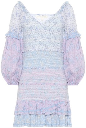 LoveShackFancy Ensley floral cotton minidress