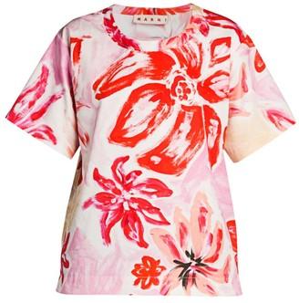 Marni Floral Crewneck T-Shirt