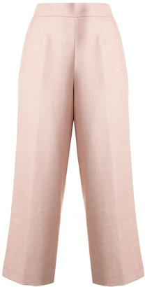 Kiton cropped wide-leg trousers