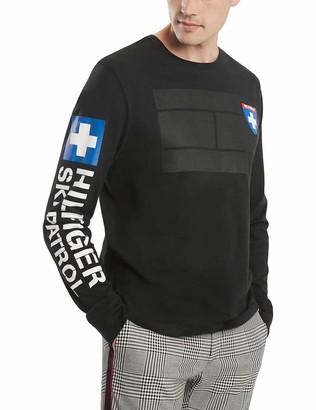 Tommy Hilfiger Long Sleeve Crewneck Graphic T Shirt Jet Black