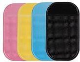Asunflower® Car Dashboard Sticky Pad Magic Anti-Slip Non-slip PAD MAGIC MOUNTING PAD (Pack of 4)