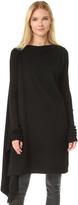Rick Owens Asymmetrical Sweatshirt Tunic