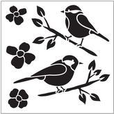 FolkArt Birds Small Painting Stencil