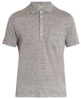 Massimo Alba Filicudi short-sleeved linen polo shirt