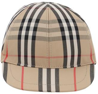 Burberry CHECK COTTON BASEBALL HAT