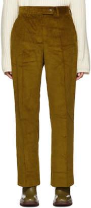 Acne Studios Yellow Vintage Cord Patsyne Trousers