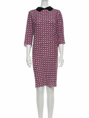 Marni Silk Knee-Length Dress Pink