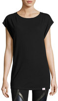 Vimmia Pacific Cap-Sleeve Open-Back Performance Tee, Black