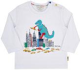 Paul Smith Monster & City Long-Sleeve T-Shirt-WHITE