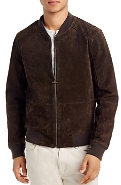 Blank NYC Faux Suede Slim Fit Bomber Jacket