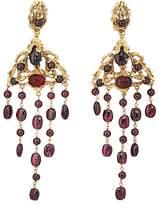 Goossens Paris Women's Garnet Drop Earrings