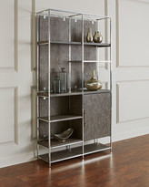 Hooker Furniture Astoria Stainless Steel and Wood Bookcase