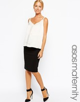 Asos Midi Tailored Pencil Skirt