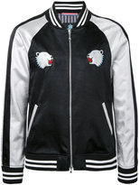 GUILD PRIME bear patches bomber jacket - men - Acetate - 1