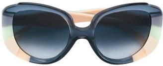 Cat Eye Chloé Eyewear colour block sunglasses