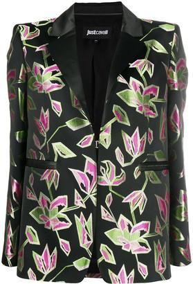 Just Cavalli Floral Embroidered Blazer