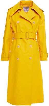 ALEXACHUNG Double-breasted Cotton Trench Coat