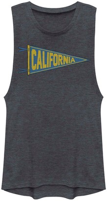 Juniors' California Pennant Flag Graphic Muscle Tank