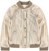Bonpoint Leather bomber jacket