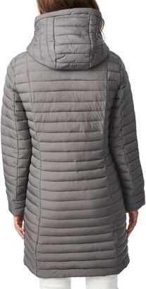 Bernardo Quilted Water Resistant Packable Walker Coat