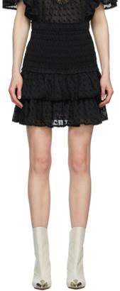 Etoile Isabel Marant Black Tinaomi Miniskirt