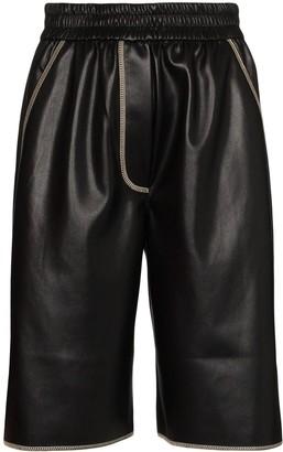 Nanushka Yolie faux-leather shorts