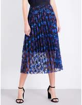 Sandro Pleated lace skirt