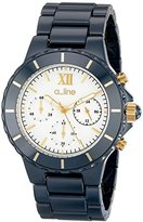 A Line a_l_line Women's AL-20041-NBWGR Marina Chronograph Ceramic Watch with Triple-Link Bracelet