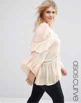 Asos Ruffle Tiered Blouse
