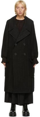 Regulation Yohji Yamamoto Black Tweed Coat