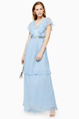 Lace & Beads Womens **Ruffle Maxi Dress By Pale Blue