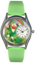 Whimsical Watches Women's S1224002 St. Patrick's Day Rainbow Light Green Leather Watch