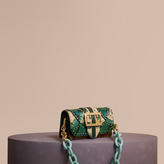Burberry The Small Buckle Bag in Studded Snakeskin and Floral Print