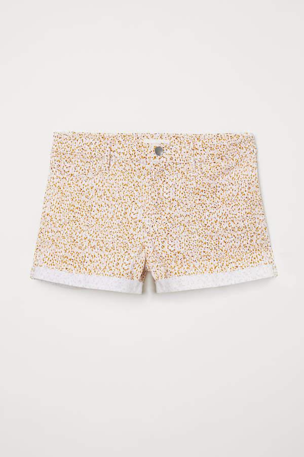 Short Twill Shorts - White