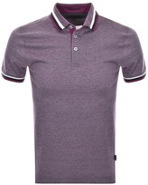 Ted Baker Short Sleeved Bates Polo T Shirt Purple