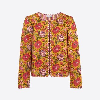 Pink City Prints - 70S Jal Quilted Jacket - L