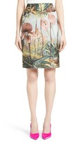 ADAM by Adam Lippes Women's Orchid Print Jacquard Pencil Skirt