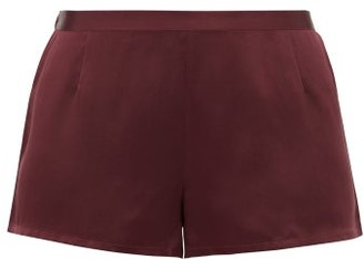 La Perla Silk-satin Pyjama Shorts - Womens - Burgundy