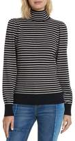 Rebecca Taylor Women's Stripe Stretch Wool Turtleneck