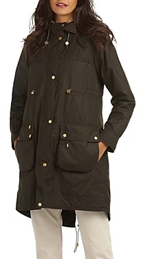Barbour Birches Waxed Cotton Hooded Parka